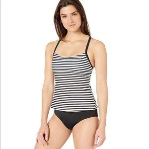 Nike Stripe Racer Back Tankini Sport/Swim Set*NWT